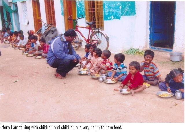 feeding AIDS kids in orphanage